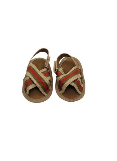 First Step Turkuaz Hasır Sandalet Kırmızı